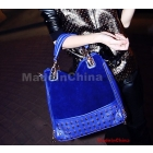 Free Shipping Wholesale New arrival hot sale special fashion Korean plush female handbag suede popular rivet tide handbag