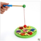 Magnetic wooden fishing beetle fishing butterfly fish fish fish fishing game