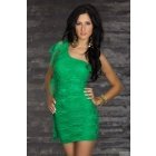 2013 Free Shipping Charming Fashion Sexy party Dress Double  Layer SLIM DRESS Green YH5413