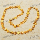 Long Natural Mother of Pearl Necklace (Golden) SKU:38911