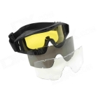 Stylish Outdoor Riding Eye Protection Glasses Goggle - Black + Yellow SKU:154445