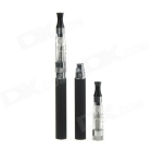 USB + AC Charger Rechargeable Electronic Cigarette w/ 1.6ml CE4S Atomizer - Black (2 PCS) SKU:203262