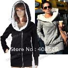 DROP SHIPPING 2013 Korea ladies Hoodie Coat Jacket Sweatshirts Warm Outerwear hooded Zip Cotton + Polyester Wholesale 3269