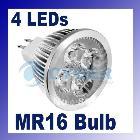 Big Discount!! 10pcs/Lot 4W 12V MR16 4LED Light Bulb Warm White Spotlight Free Shipping 213