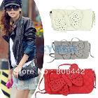 Free Shipping 2012 Fashion Women Wristlet Evening Bag Chain Butterfly bow-knot Clutch Purse HandBag Shoulder Bag 5138