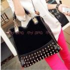 2013 fashion scrub rivet bag messenger bag multi-purpose women's handbag big bags Free Shipping A68