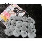 New Genuine Rabbit Fur Handbag fashion charm /Free Shipping/retail/wholesale C44