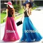 2013 New Fashion Women's 8 Meters High Quality Chiffon Skirt European And American In Summer Half Skirt