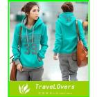 2012 New Style !!2012 Spring Korean Women Leisure Sports Hoodie &Set two-piece thickening of hoodies suit