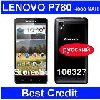 in stock Lenovo 80 phone MTK6589 quad core 1.2GHz 4000mAh 1GB/4GB 1280X720 Camera 8.0MP 3G Smart phone Android4.1 Russian /Eva