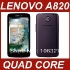 free shipping MTK6589 Lenovo A820 phone Android 4.1 GPS 3G quad core 1GB + 4GB 4.5