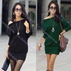 2013 New Fashion Sexy Ladies Women's shirt dress Casual off shoulder Shirts Mini dresses 3492