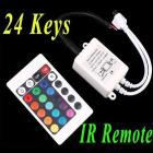 12V 24 Keys IR Remote Controller for SMD 3528 5050 RGB LED Strip Lights drop shipping