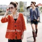 2012 New Korea Women's Fashion Knitting cardigan Sweater Batwing long sleeve Outwear C13141SL