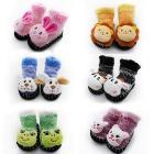 Super soft warm cute cartoon  shoes soft bottom Knitting + velvet inside Riga