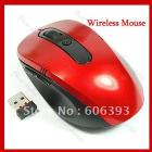 2.4G Mini USB Wireless Optical Mouse for PC Laptop, 10m can control Red freeshipping dropshipping