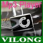 new 2013 free shipping Mini Clip Mp3 Player,sport Mirror Mp3, card support