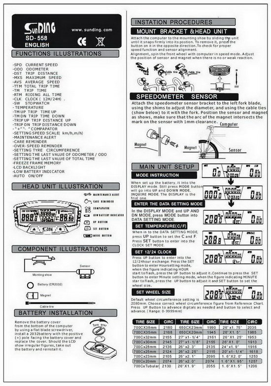 crivit bike computer manual pdf