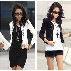 Free Shipping New Lady's Long Sleeve Shrug Suits Small Jacket Fashion Cool Women's Rivet Coat 2 Colors S/M/L/XL/XXL LBR9002