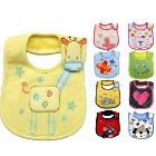 2014 HOT! 31*19cm cotton waterproof bib for Infant pinafore pinny & Color random for boy and girl