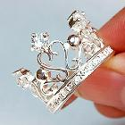 Wholesale silver plated copper Crown ring.fashion ring.Free shipping.Factory price~TOP quality.