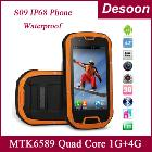 S09 IP68 Cell phones MTK6589 Quad Core 1GB 4GB ROM Waterproof Dustproof Shockproof cool phone in stock/Amy