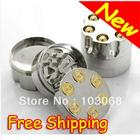 2012 New 4.2 cm 3 PC HERB / SPICE / GRASS / WEED Tobacco Herb Bullet Grinder Free Shipping HX-GR-Q1