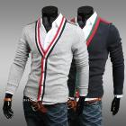 Free shipping 2013 autumn new fashion personality slim Knitwear cardigan men's sweatshirt Casual outerwear M, L, XL XXL