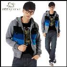 New arrival men's fashion strap hoodie,Hoodie Biker Jacket Free shipping MWW021