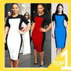 2013 New Women's  Brief Color Stitching Sexy Slim Casual Dress,Autumn and Winter Brand Design Hot Dress S-XXL C0103