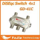 1pc Gecen 4x1 Satellite DiSEqC Switch Gecen GD-41C for satellite receiver with high quality Free Shipping Post