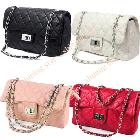 Fashion Classic Women Clutch faux leather Shoulder Bag Handbag Quilting Chain Cross Free Shipping 3105