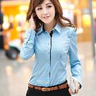 2013 New Korean Women's Ladies OL Slim Long Sleeve Shirt Blouse 2 Colors # L034851