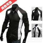 2012 New men's Casual Luxury Stylish Slim Long Sleeve Shirts 3 sizes free shipping