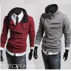 Free shipping,hot sale top brand hoody men's coat silm coat fashion hoody ,4 Color men's long sleeve sweatshirts/coat WY009