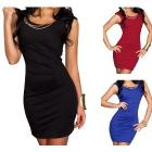 Sexy Clubwear Cocktail Dresses Party Mini Short Sleeve Slim Dress