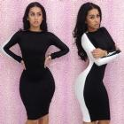 2013 New Sexy Dresses Bodycon Long Sleeve Women Dress Novelty Backless Slim Fit Bodycon Clubwear Dress
