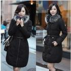 Female fur collars long down jacket in han edition cultivate one's morality leisure thick coat