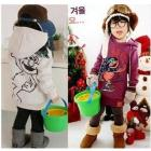 clothing cartoon long hooded clown sweater fleece /sherpa hoody, wear,Kids Clothes, clothes,Hood Spring and Winter