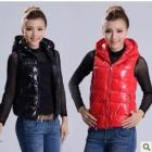 The new shiny cotton-padded jacket vest vest of cultivate one's morality