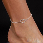 Sexy Lady Heart Rhinestone Anklet Foot Wedding Jewelry Ankle Bracelet 1NW8