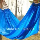 New Sale 1Pcs Blue Or Orange Home Parachute Cloth Portable Outdoor Leisure Camping Travel Hammock Free Shipping