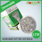 6X Hot Selling 12W GU5.3 /MR16 220V 4*3w Dimmable/Non Dimmable LED Lights Lamp Bulb Spotlight Cool /Warm White Free Shipping