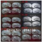 Free shiping,24pcs/lot,6 Sets,Styles Eyebrow Template Stencil Make-up tool DIY Shaping