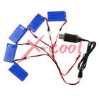 Free Shipping 5pcs/lot 3.7v 500mAh Battery 5pcs/set with USB Charger for syma x5 x5c x5A Quadcopter Toy