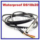 DS18B20 Stainless steel package 1 meters waterproof DS18b20 temperature probe temperature sensor 18B20 in stock high quality
