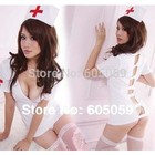 stockings G-string hat shirt set Sexy lingerie erotic hot selling doctor nurse uniform costumes women Cosplay uhsl049