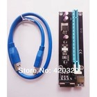 PCI-e 1X to 16x Riser Extender Card 60cm USB 3.0 Cable with molex power supply cable for bitcoin miner