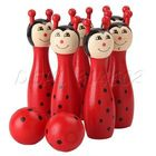 Children Toys Wooden Bowling Funny Shape for Kids Color Recognition