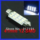 Free Shipping 41mm Festoon Dome 12 SMD LED 1206 Car Interior Bulb Light Lamp White